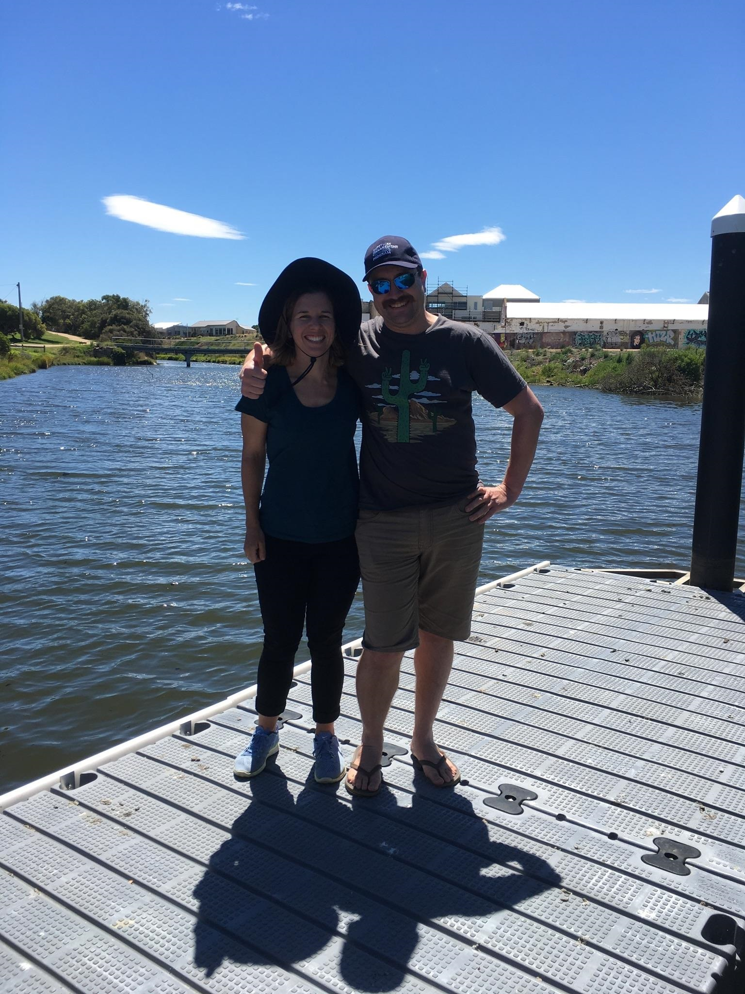 Jarod and Lisa on the Merri River