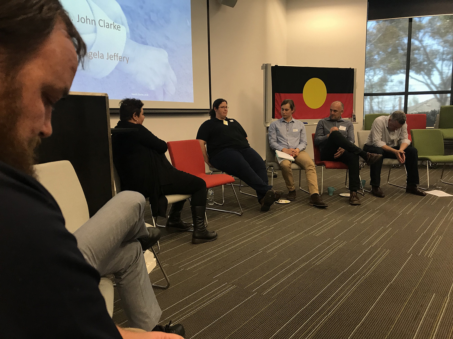 Aboriginal leaders Tashara, Dixie, Ang and John shared their personal stories. Photo credit: Robyn McKay