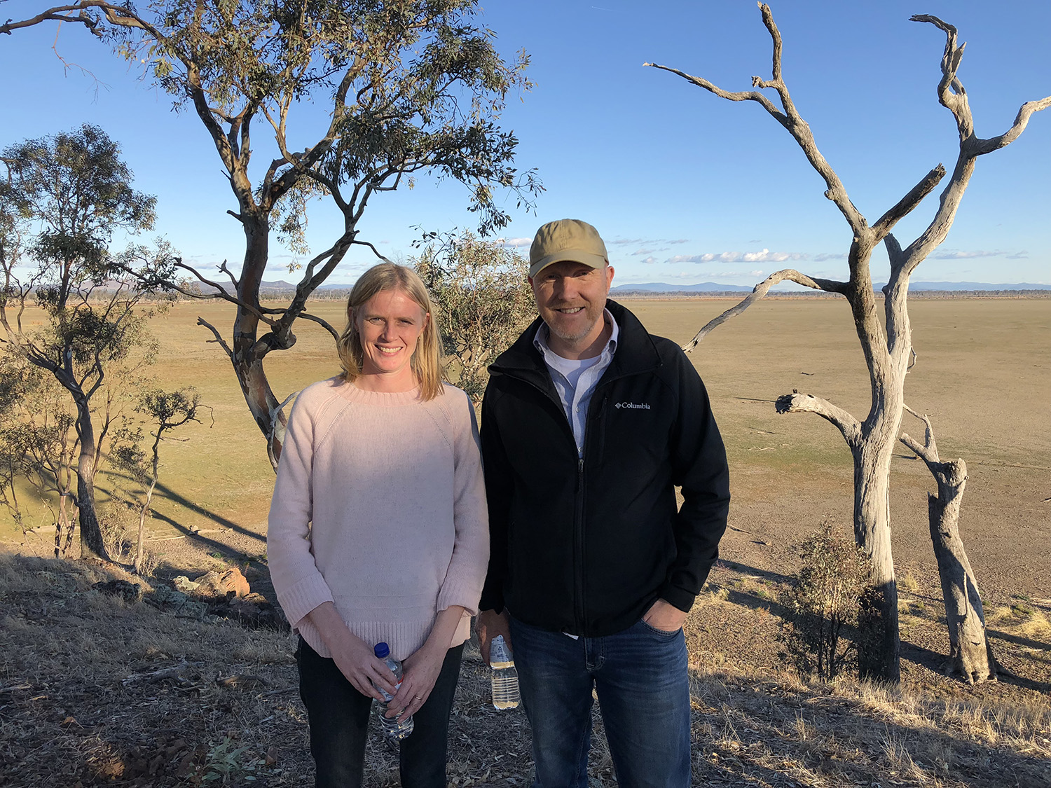 Trent and Jenny at the 2nd Twinning Workshop at the Winton Wetlands (4 June 2018). Photo credit: Tamara Boyd