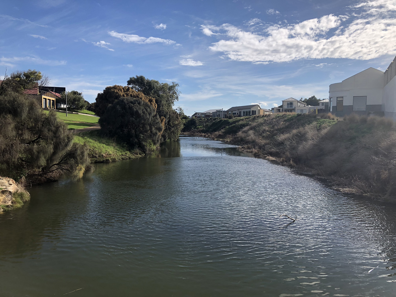 Twinning Tour of the Merri River - View of the Merri River in Warrnambool (28 May 2018). Photo credit: Trent Wallis