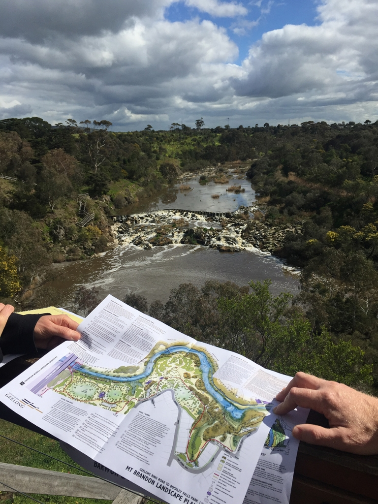 Sharing plans for the parkland at Buckley Falls (3 Sep 2018). Photo credit: Jenny Emeny