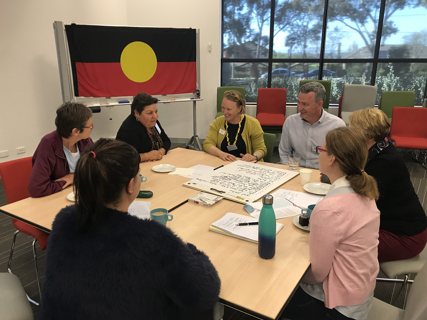 Strategising during the workshop. Photo credit: Robyn McKay