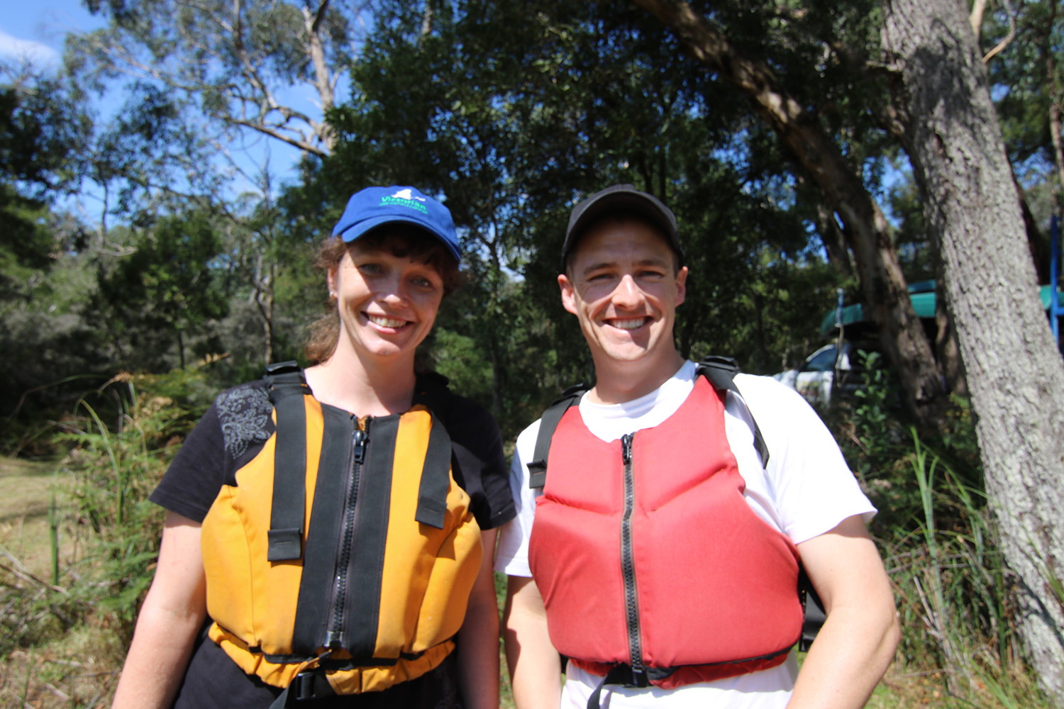 Tamara and Andy set for a canoe on the Glenelg River. Photo credit: GHCMA