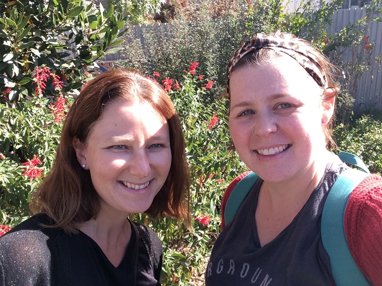 Twinning selfie! Photo: Kira Woods